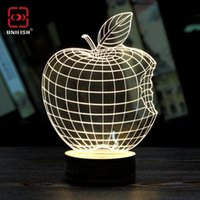 best reading lights - 2016 Fashion Creative D Table Lamp Stylish Transparent Love Style D Wireframe LED Lamp Magic Night Bed Reading Light Best Christmas Gift