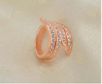 Wholesale Korean woman diamond rings Rose gold rings Wedding diamond rings Popular accessories Factory direct supply cs350