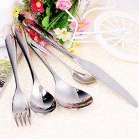 Wholesale Stainless Steel Cutlery Set Tableware Fork Steak Cutter Spoon Tea Spoon Dinnerware Set