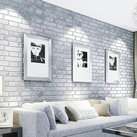 Wholesale Newest Brick Stone Pattern Vinyl Self Adhesive Wallpaper Roll Peel Stick Contact PaperRetro pattern wallpaper TV backdrop bedroom