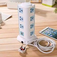 Wholesale Smart Power Socket Plug Outlet USB Ports Layer universal tower Socket Surge energy saving power strip