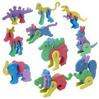 assorted puzzles - D EVA Animal Puzzles Kids Children Kindergarten Do It Yourself Easy Crafts Toys Colors Assorted