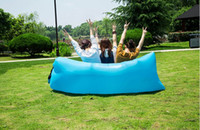 Wholesale Lazy Bag Lay Bag Sleeping Bags Fast Inflatable Air Sofa camping Sleeping Beach Bed Banana Lounge Bag Air Bed Lounger