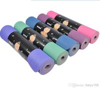 Wholesale Brand New Yoga Mat TPE six colors size cm piece drop shipping