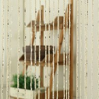 Wholesale Thread String Curtain Decorative Line Curtains Partition Valance Sheer Curtains for Door Living Room Window Bedroom Decor160628