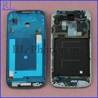 Wholesale DHL For Samsung Galaxy S4 i337 M919 Genuine LCD Frame New Front Housing Middle Frame Bezel Plate Home Button