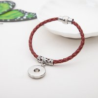 antique amethyst jewelry - Mix color Antique silver leather Snap Bracelets Fit Snaps mm Snap Buttons lobster chain giger snap jewelry
