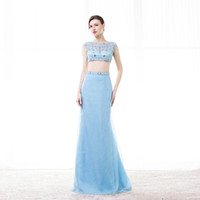 Wholesale Fashion Sheath Crop Tops Dress Girl Blue Dress Made of High Quality Tulle Factory Price