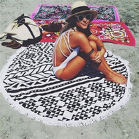 Wholesale 2016 Large Cotton Round Beach Spa Bath Round Tapestry Wall Hanging Beach Throw Towel Mat Boho Decor Swimming Sunbath