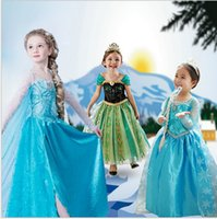 baby pictures movies - 2016 Girls Frozen Dresses Girls Elsa New Cartoon Dresses Anna dress Cinderella movie cosplay costumes baby girl priness dresses