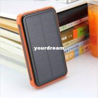 Wholesale 2016 mah Waterproof solar power bank bateria external solar charger powerbank for iphone s s s