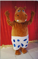 adult christmas pictures - Real Pictures Deluxe the hippo mascot costume Adult Size Suit Christmas fancy dress factory direct