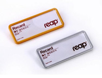 Wholesale 10 x27mm Magnetic student worker employee ID name card holder business identification card frame chest badge