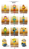Wholesale 10 models Despicable Me Minions paper clip safe Silicone Pin children kids Bookmarks card Invoices folder carton Sealing clip