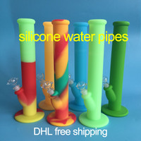 Wholesale DHL silicone water pipes six colors for choice silicone water pipe water pipes glass bongs glass pipes