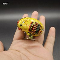 backed chicken - Wind Up Toys Animal Robot Chicken Pecking Metal Models Pull Back Interactive Toy For Childrens Boys
