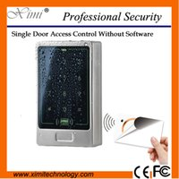 Wholesale Face waterproof with keyboard proximity MF mhz card reader without software single door lock M13B access control