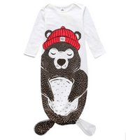 belly clothing - Halloween Baby mermaid sleeping bag Monster sleepwear infants bodysuits Ins autumn baby clothing Kids clothes Protect belly free SF