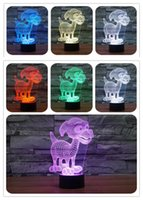 balls doggie - 2016 New Doggie Dog Colors D Optical Illusion Light LEDs Acrylic Light Panel DC V Factory