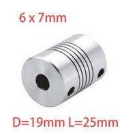 Wholesale 2pcs x7mm CNC Motor Jaw Shaft Coupler mm To mm Flexible Coupling OD x25mm Dropshipping