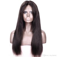 african american market - Natural Human Hair Wig Straight For African American Market Nice Quality Front Lace Wigs Baby Hair