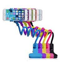 Wholesale Rotating Flexible Long Arm cell phone holder stand lazy bed car selfie mount bracket for Apple iphone4 S plus for samsung