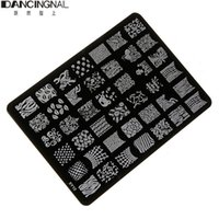 Wholesale 1pcs New Nail Art Printing Metal Stamping Plate DIY Stencil Template Manicure Fashion Black cm x14 cm
