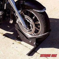 trailer wheel lock - Motorcycle Wheel Chock Safety Lock Storage Stand Kit Tire Bike Truck Trailer New
