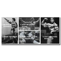 motivational posters - Arnold Schwarzenegger Bodybuilding Motivational Quote Art Silk Poster Print x50 quot Fitness Pictures For Gym Room Decor
