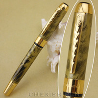 abstract clip art - Fashion JINHAO Good Quality Golden Abstract Pattern Carbon and Silver Clip Ballpoint Roller ball pen pens