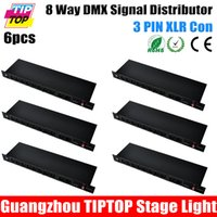 amplifier output stage - 6Pcs Channel Output DMX Splitter CA8802 Lighting Control W Dmx Splitter Control Stage Light Signal Amplifier Splitter