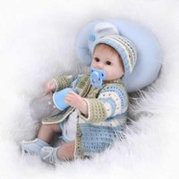 Wholesale Handmade Inch reborn dolls lifelike silicone soft newborn baby doll realistic boy babies gift for children Christmas gift