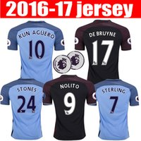 anti stone - best thai quality Manchester city soccer Jerseys Home away KUN AGUERO DE BRUYNE STERLING SILVA NOLITO STONES football shirt