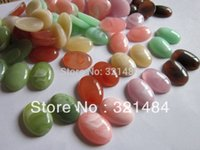 Wholesale mix colored x25mm Oval Acrylic Cabochon Stones For Ring Bracelet Earring Necklace Pendant Blank Jewelry DIY