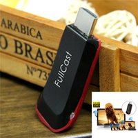 Wholesale NEW Smart tv stick fullcast M4 AM8252 Miracast Wireless Display HDMI p TV Dongle Android iOS Windows Mac OS Red Black