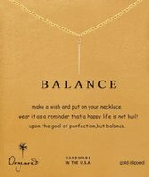 balance necklaces - Dogeared Necklace with vertical pendant balance noble and delicate no fade and high quality