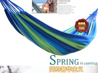 Wholesale Hot Selling Outdoor Leisure Canvas Hammock High Quality Hanging Bed Thick Canvas Camping DHL
