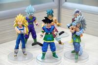 Wholesale 5 quot AF Dragonball Dragon Ball Z Action Figure GOKU SAIYAN Toys Gift Set of