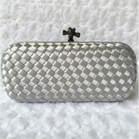 Wholesale Top Quality Luxury Brand Designer Woven Knot Evening Bag Women Party Handbag Weeding Bride Clutch Purse Chains Shoulder Bag Bolso
