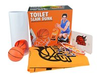 Wholesale 36set Let toilet no longer boring Funny toilet sport toy Basketball club sport toys set Toilet slam dunk toy kids child Indoor sports