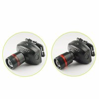 Wholesale 100pieces H1 selling mini LED headlamp Headlight Mode energy saving outdoor camping fishing headlights LED flashlight black