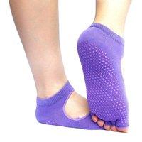 Wholesale Directly For Major Non slip Yoga Dig Socks Back Socks Full Cotton Pure Cotton Dew Toe Back The Five Fingers Yoga Socks