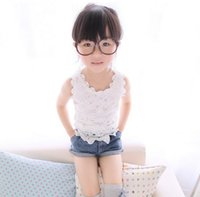 apparel machine - INS Summer New Baby Girls Clothing solid color crochet lace camisole tops Girl Vest Children Apparel Child Costumes