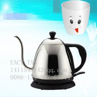 Wholesale 1 L small electric kettle Staniless steel tea pot Electric coffee pot with long spout base on GS Standard VDE plug