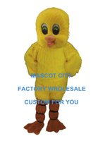 baby duck costumes - Yellow Baby Duck Mascot Costume Adult Size Cartoon Character Outfit Suit Fancy Dress For Party Carnival SW782