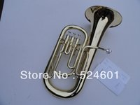 bass french horn - A beautiful gift straight key Bb bass French Horn is golden