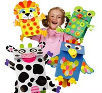 arts and crafts bags - Paper Bag Puppets Create Your Own Kids Children Kindergarten Educational Arts and Crafts Toys