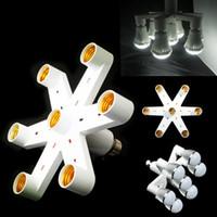 Wholesale Best Price Hot Splitter variable multiple in1 E27 bulb base adapter converter LED light bulb energy saving lamp incandescent