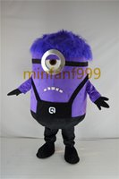 bad dress - Purper Bad Minion Despicable Me Purper Bad Minion Cartoon Mascot yellow Adult Costume For Halloween And Christmas Party fancy dress