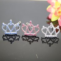Wholesale new arrivals luxury rhinestone crown for pets hairwear ornaments girl hairwear ornaments white pink blue color